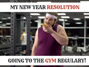 my resolution funny food eating gym new year meme