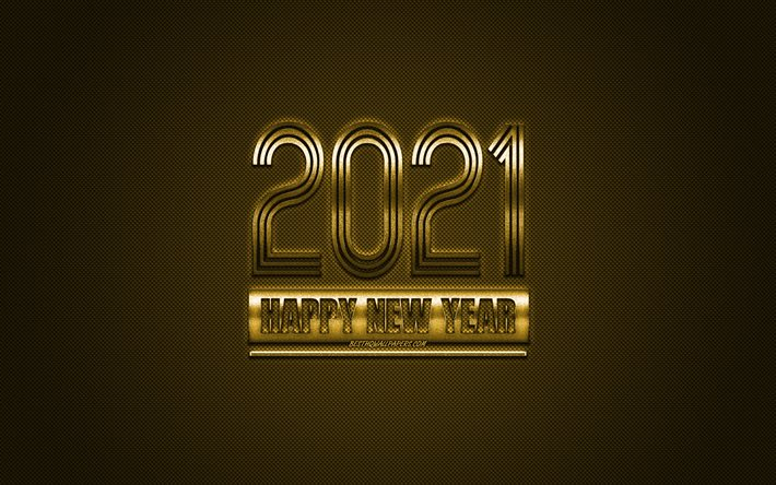 Happy New Year 2021 Gold Background