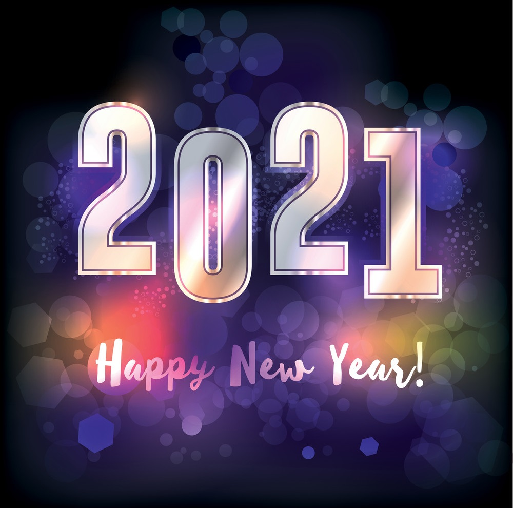 Happy New Year 2021 Illustration