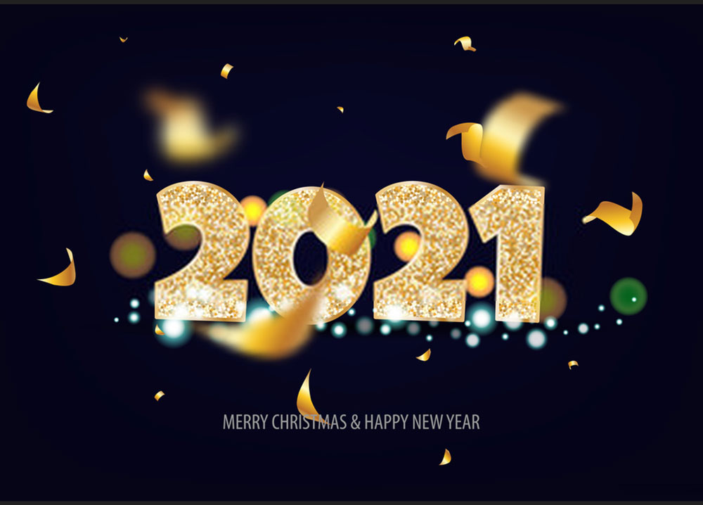 Happy New Year 2021 Merry Christmas Wallpaper