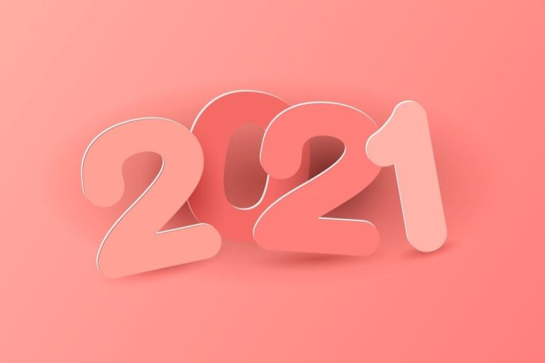 Happy New Year 2021 Photo Pink Wallpaper