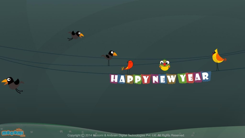 Crtani film Cool cool New Year Wishes Wallpaper