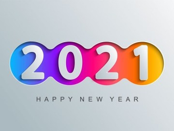 Pêşve Sersala we pîroz be 2021 Wêne