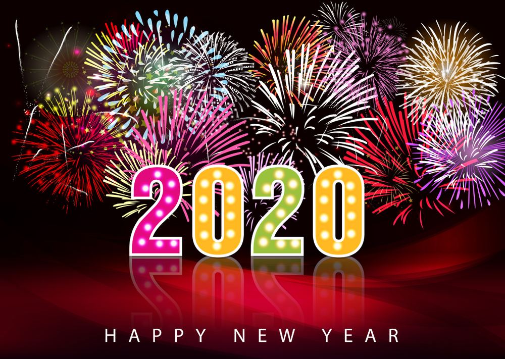 新年快樂. 2020, Happy New Year Card 2020, Happy New Year Wi