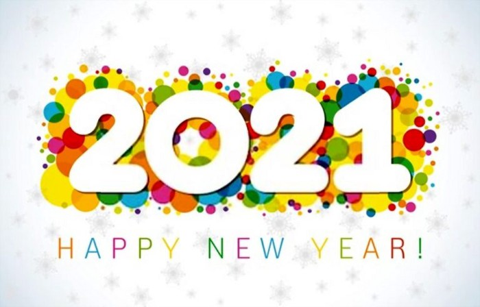 Happy New Year 2021 Colorful