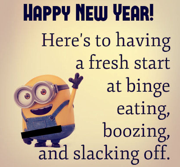 Happy New Year Funny Minion Quotes
