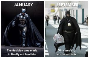 New Year Resolution Meme about health batman