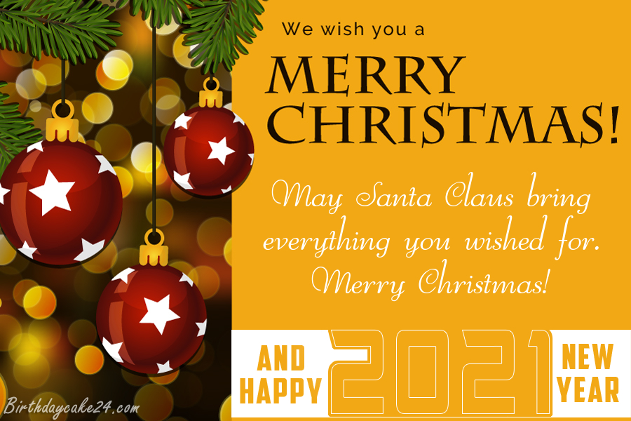 Christmas And New Year Greeting Card 2021