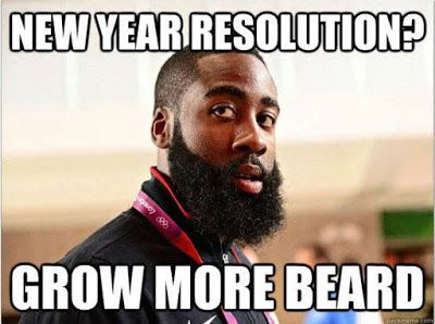 Growing Beard Funny New Year Meme