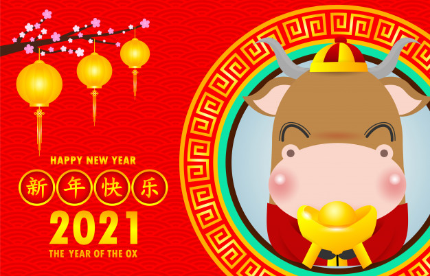 Happy Chinese New Year 2021 Greeting Card