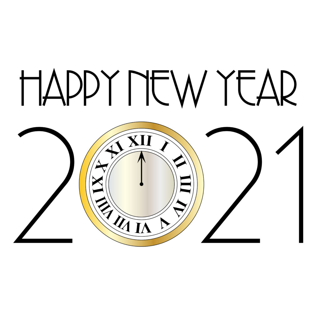 Happy New Year 2021 Clock Vector 1024x1024