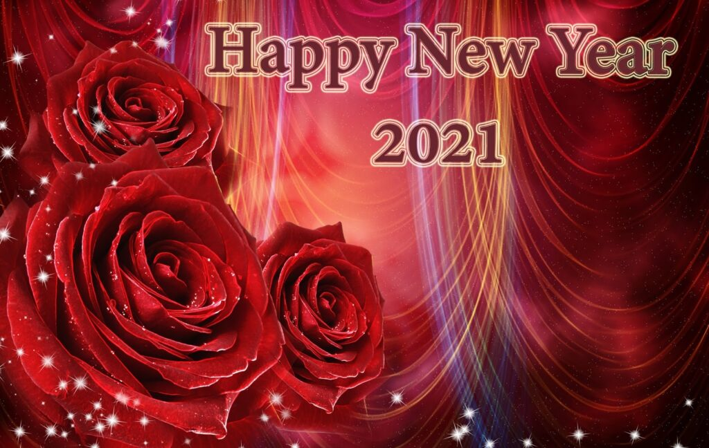 Happy New Year 2021 Rose Wallpapers Hd