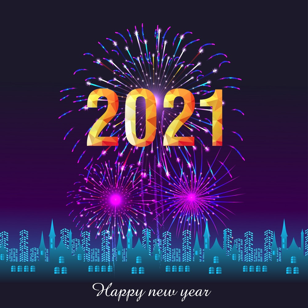 Happy New Year 2021 With Firework Images