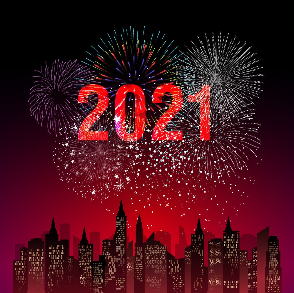 Happy New Year 2021 With Firework Newyork