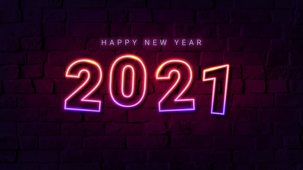 Neon Happy New Year 2021 Images
