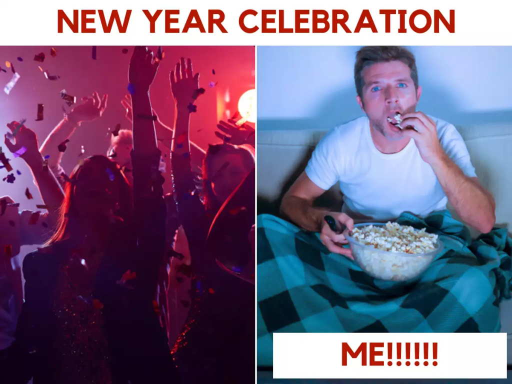 New Year Celebration Me And Others Meme