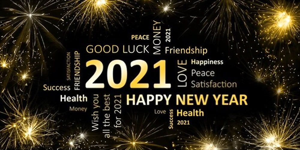 Wishes Greetings 2021 Happy New Year