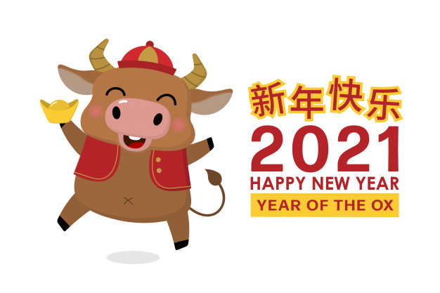 Ox Year Happy New Year 2021 Funny